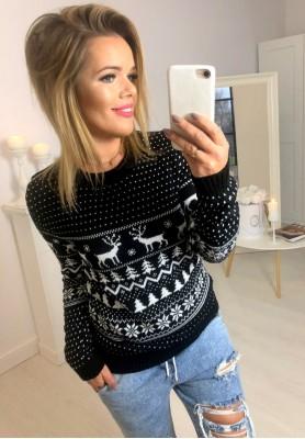 Sweter Reindeer Czerń