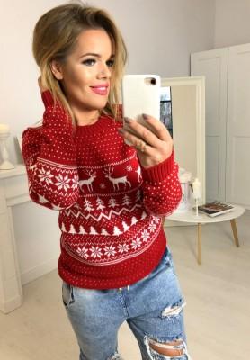 Sweter Reindeer Czerwień