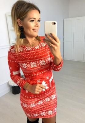Sukienka Christmas Santos Czerwień
