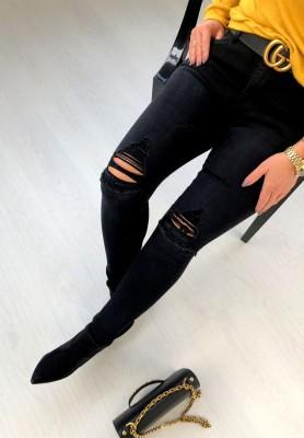 2169 Spodnie Holes Black
