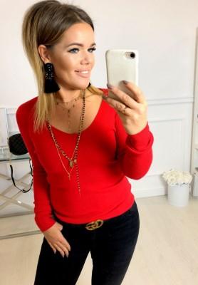 8025 Sweter Aris Czerwień