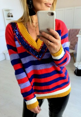 1668 Sweter Colored