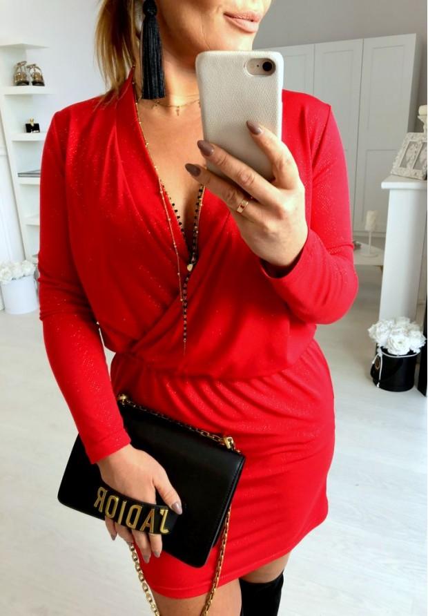 Sukienka Italiana Czerwień