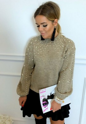 Sweter Pearls Mokka