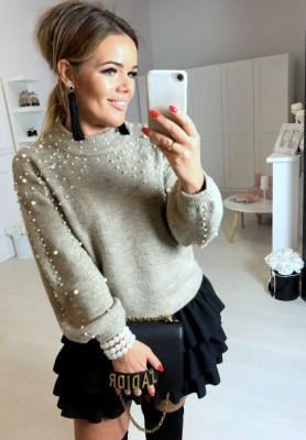 Sweter Pearls  Beż