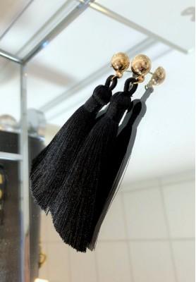 Kolczyki Long Black