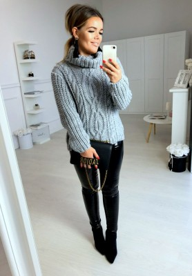 Sweter Golf Total Szary