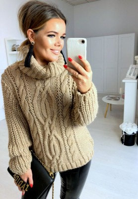 Sweter Golf Total Camel