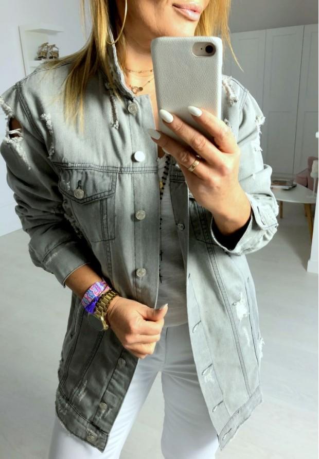 697 Kurtka Lendy Jeans Grey