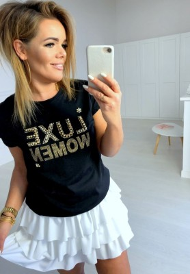 T-shirt Luxe Women Black