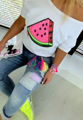 T-shirt Watermelon White