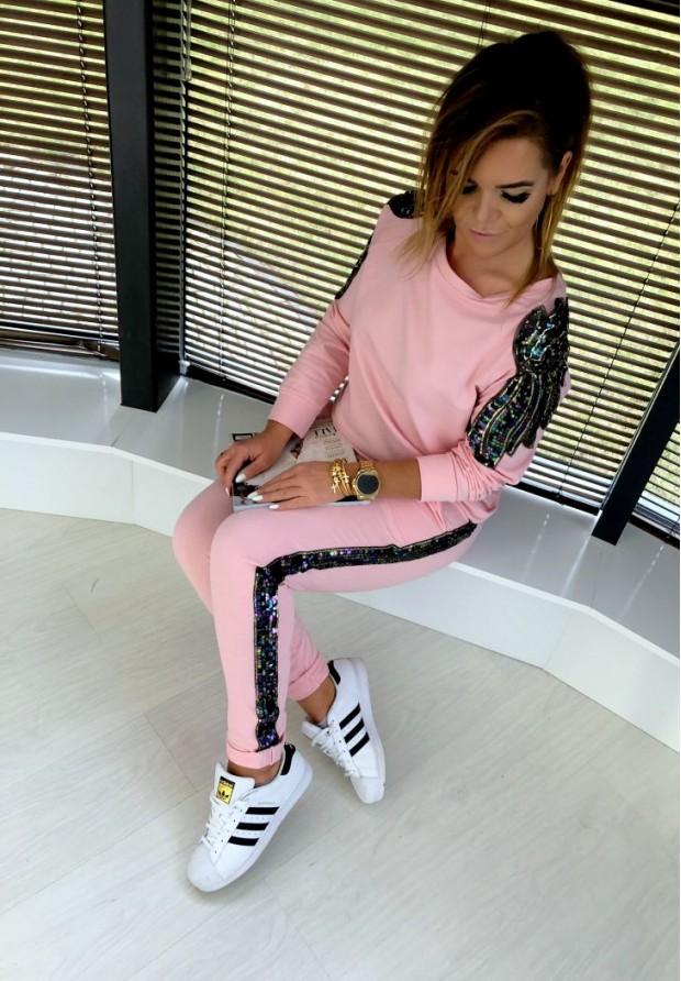 Spodnie Glamour Puder