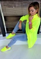 Sweter Golf Asymetric Neon Lime