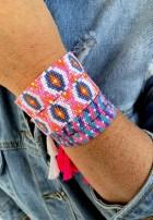 Bransoletka Hippie Pink
