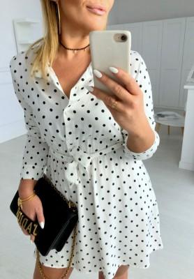 Sukienka Groszki Candy White