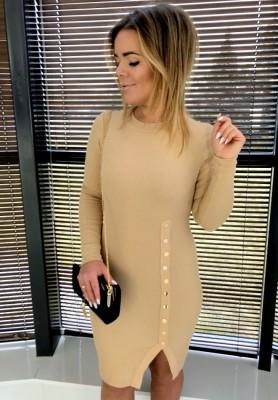 4429 Sukienka Vetiver Camel