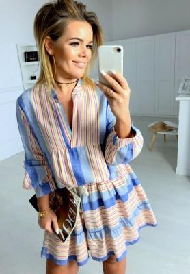 Sukienka Almond Niebieska