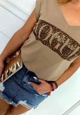 T-shirt Vogue & Panther Camel