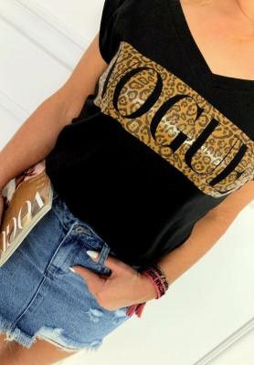T-shirt Vogue & Panther Czarny