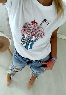 T-shirt Shake White