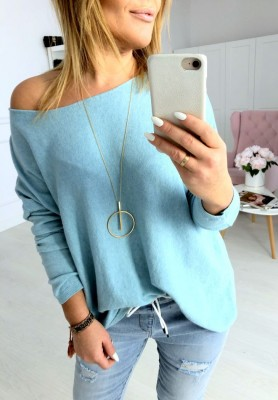 Sweter Pastellove  Niebieski
