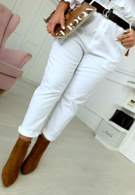 7763 Spodnie Monday White