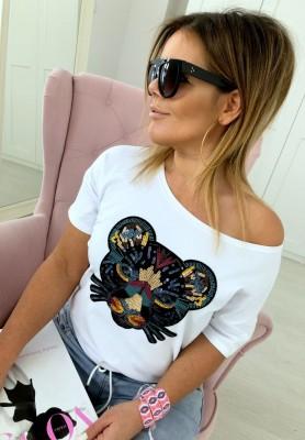T-shirt Jungle White