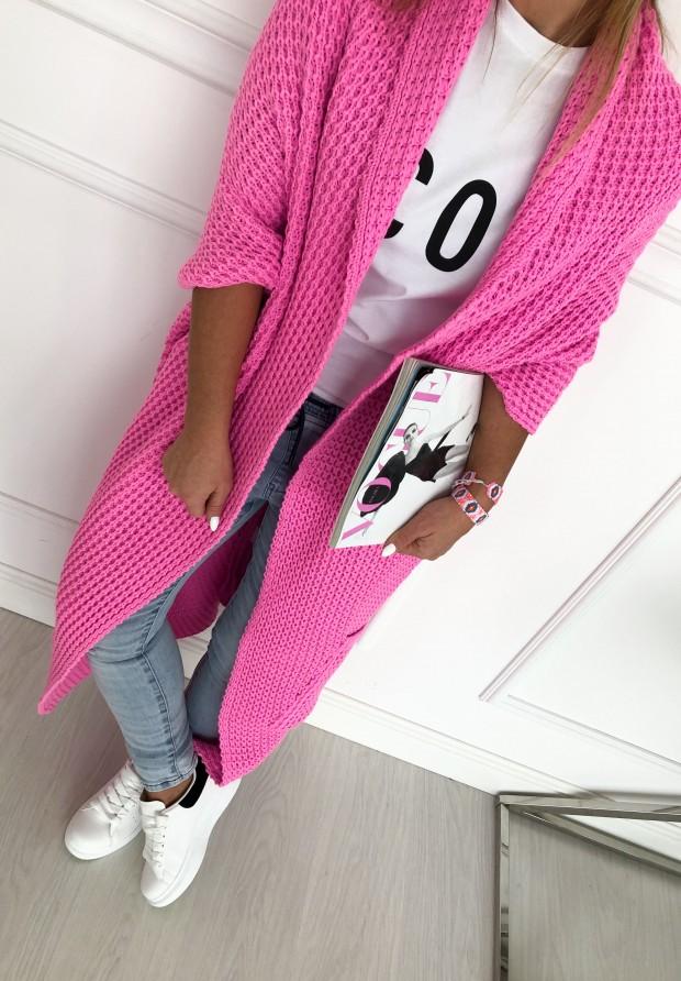 Sweter Kardigan Moi Pink