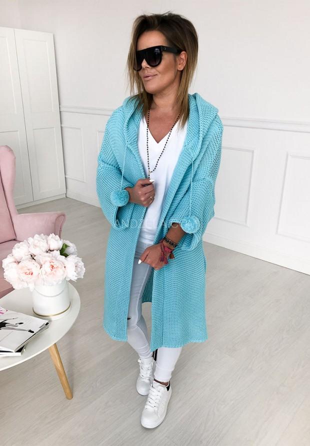 Sweter Kardigan Lucy Turkus