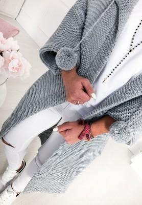 Sweter Kardigan Lucy Szary