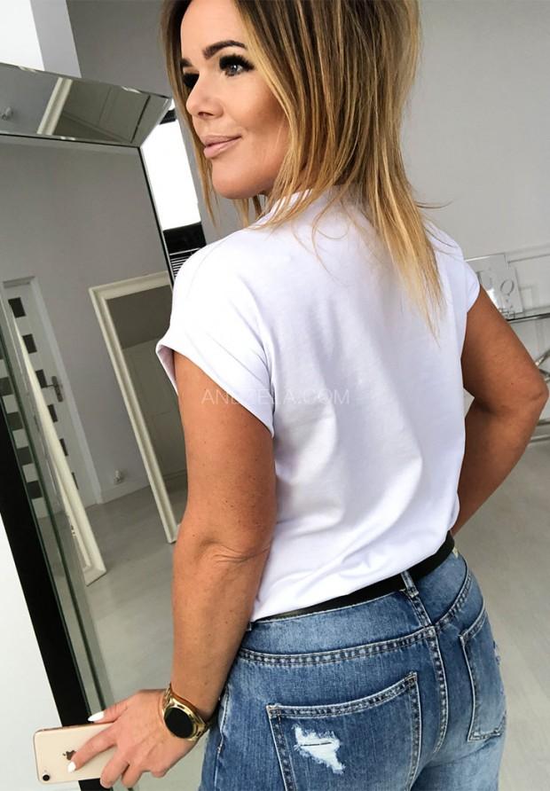 T-shirt Girl Gang White