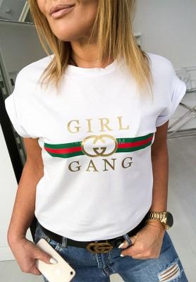 T-shirt Girl Gand White