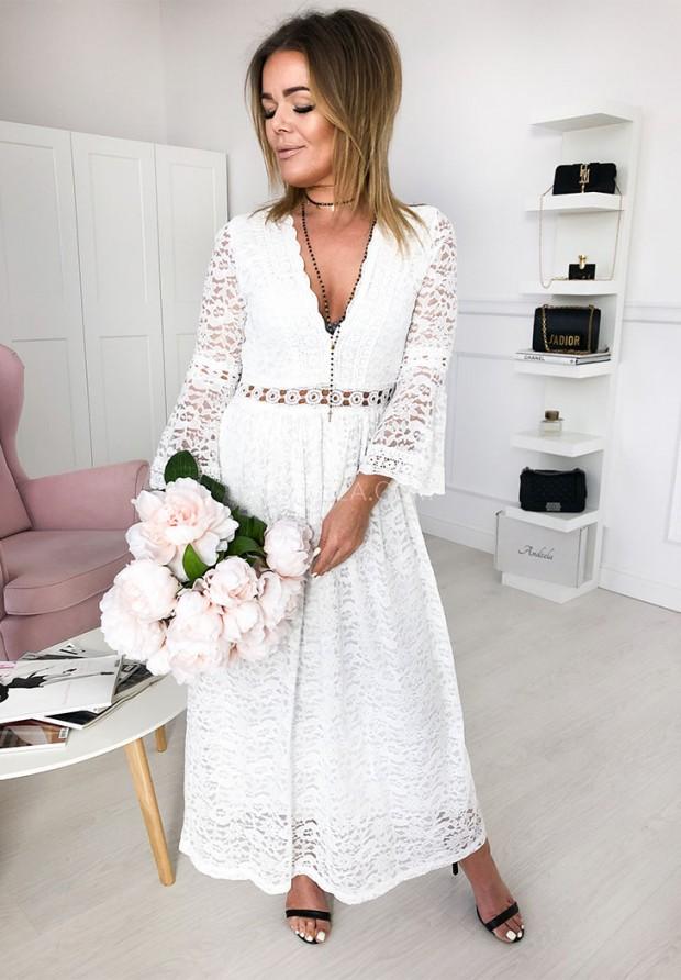 Sukienka Mona Maxi White