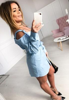 Sukienka Koszula Vulcano Niebieska