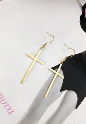 Kolczyki Gold Cross