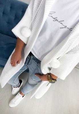 Sweter Kardigan Lucy Biały