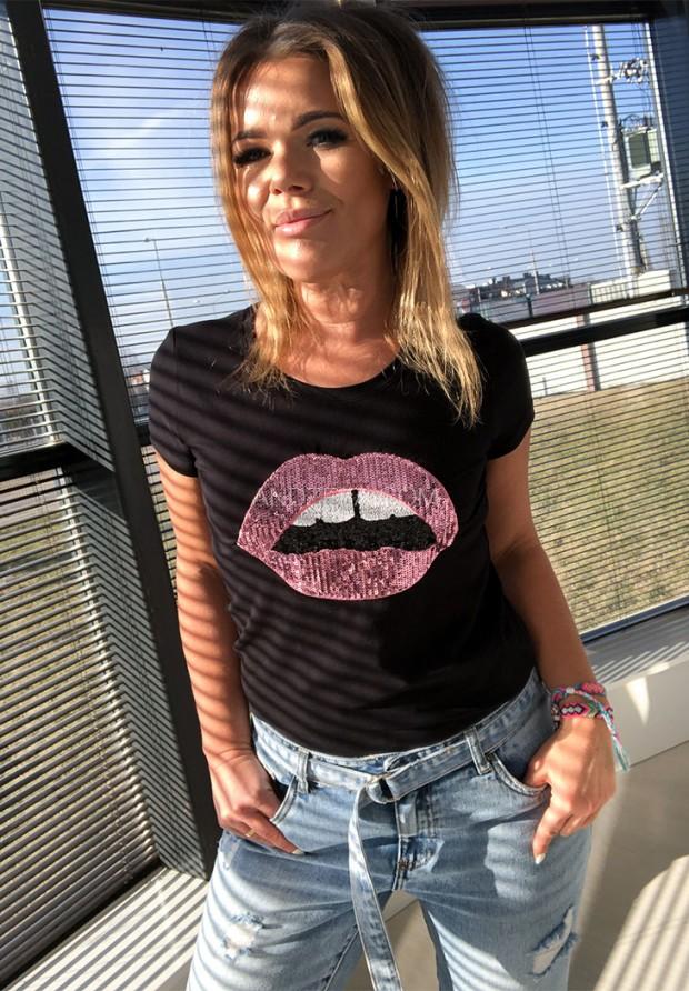 T-shirt Mouth Black