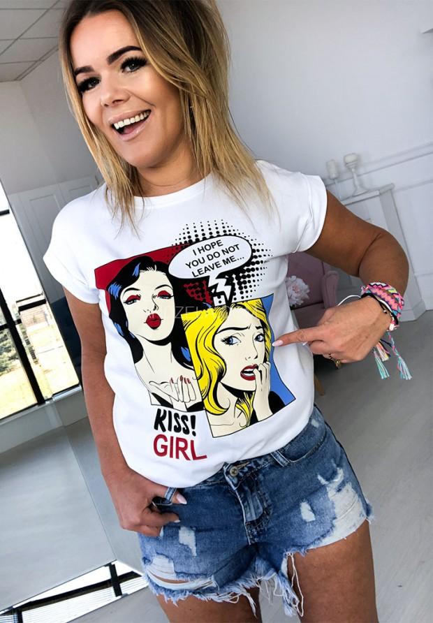 T-shirt Komiks White