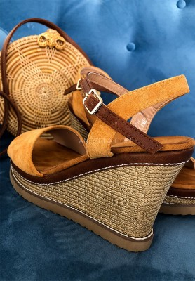 Sandałki Fashion Camel