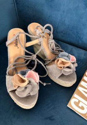 Sandałki Flos Grey
