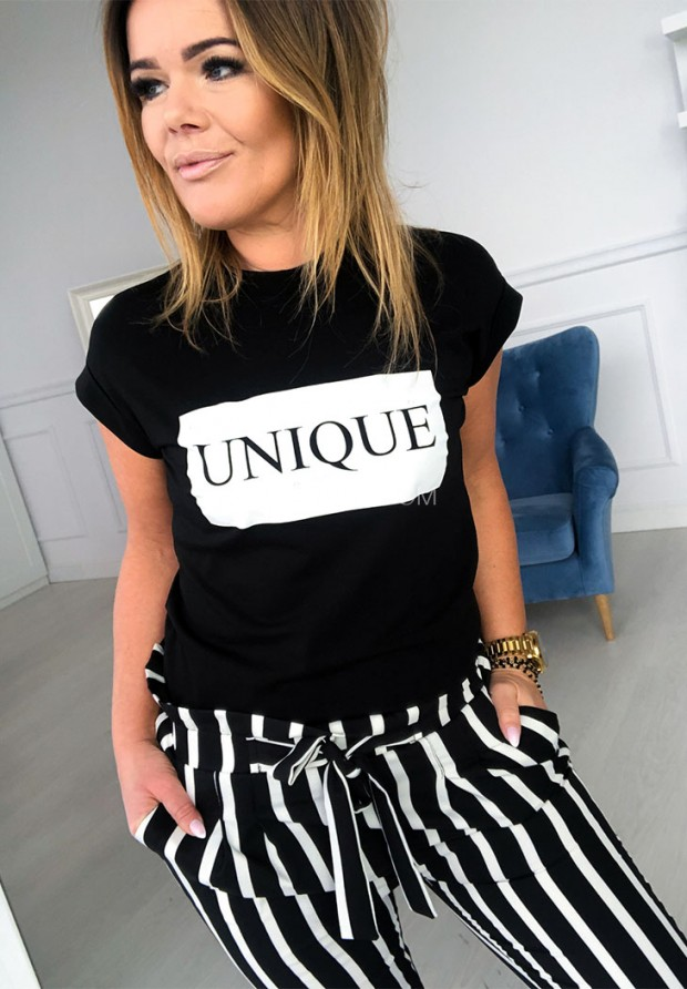T-shirt Unique Black