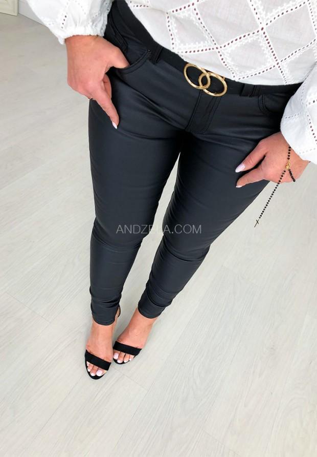 Spodnie Woskowane Isabell Black