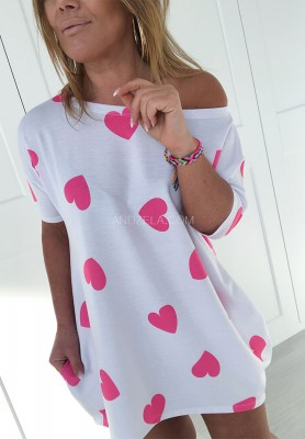 2079 Sukienka Pink Hearts