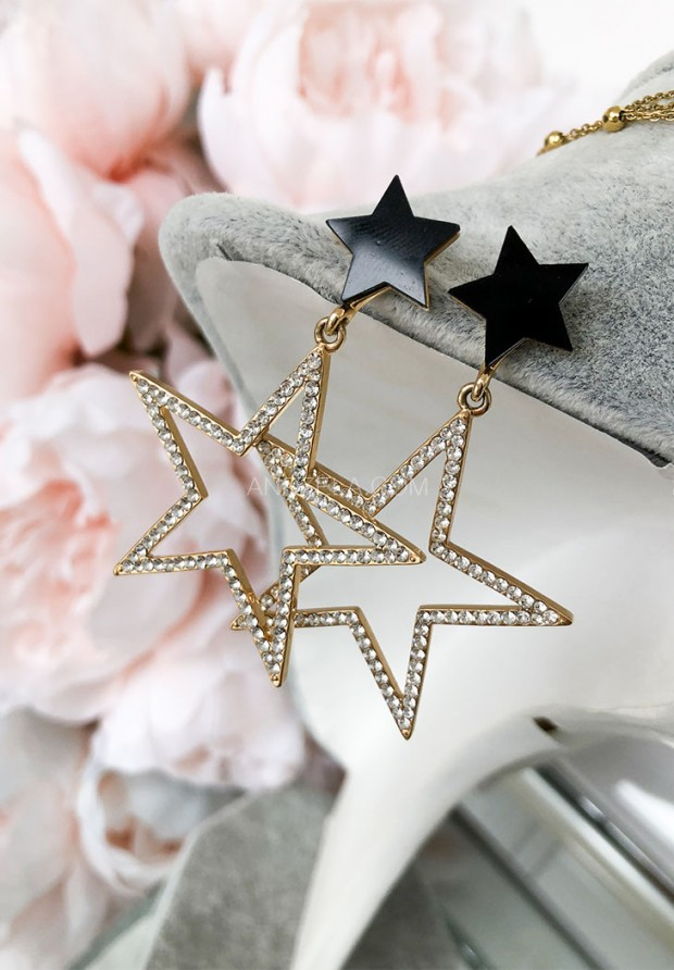 Kolczyki Stars Black&White