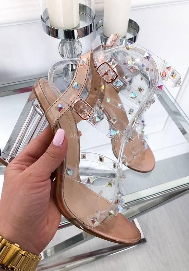 700-17 Sandały Holograficzne