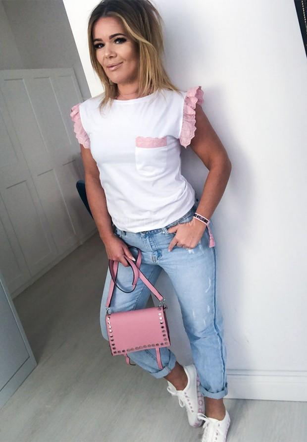 Bluzka Sandia Biała