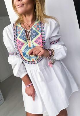 Sukienka Aztec White