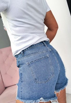 Shorty Jeans Flores