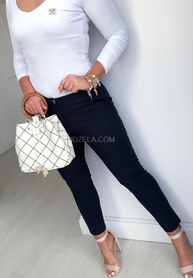 Spodnie Cygaretki Premium Granat