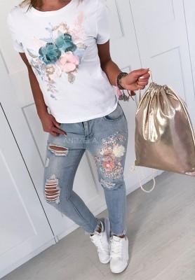 Spodnie Flower Jeans